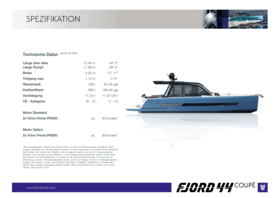 Fjord 44 coupé | Fjord