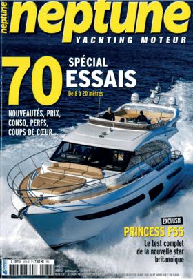 FJORD 44 coupé: Review - Neptune Yachting Moteur N°2745   Sans rien lui faire perdre de son originalité stylistique, FJORD a doté son 44 coupé d'une timonerie vitree. C'est une premiere.   Fjord