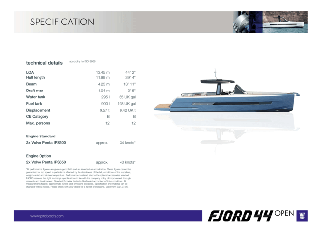 Fjord 44 open | Fjord