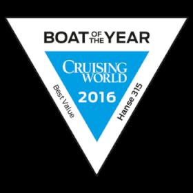 Hanse 315 Boat of the Year (Cruising World) 2016 | BEST VALUE CRUISER | Hanse