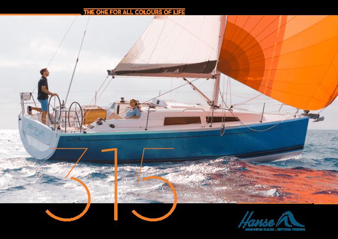 Брошюра для Hanse 315 | Описание  яхты, которую вы любите. Будьте полностью  информированы при принятии вашего решения и запросите брошюру  модели,  которую вы выбрали. Или загрузите брошюру в формате PDF. | Hanse
