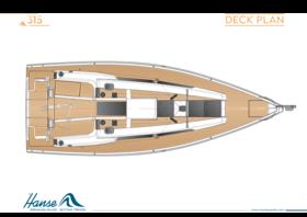 Hanse 315 План палубы | Hanse