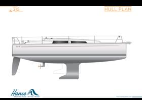 Hanse 315 船身图 | Hanse