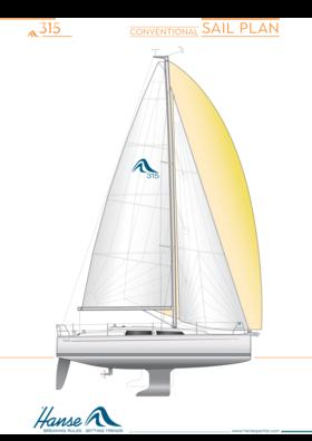 Hanse 315 обычный план плавания под парусами | Hanse
