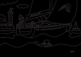 Hanse 315 Разрисовочная картинка для детей | Hanse