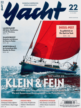 Yacht 10/2015: Hanse 315 试卷 (DE) | 所谓的新手级船艇能提供的东西并不多:为家庭提供充分的旅行舒适性,适航性,最简单的操作,以及良好的航行性能。 | Hanse