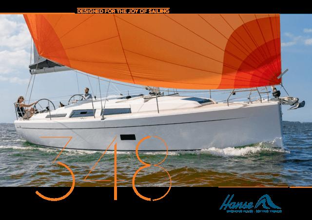 Hanse 348 Брошюра | Описание  яхты, которую вы любите. Будьте полностью  информированы при принятии вашего решения и запросите брошюру  модели,  которую вы выбрали. Или загрузите брошюру в формате PDF. | Hanse
