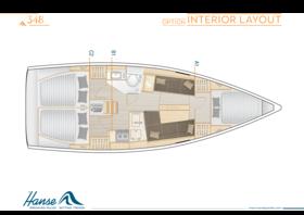 Hanse 348 Distribución interior | A1 / B1 / C2 - Opción | Hanse