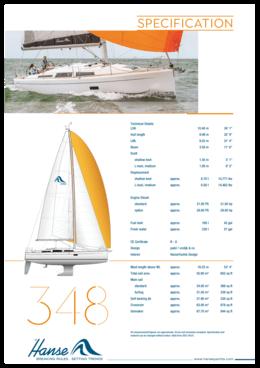 Hanse 348 Спецификация