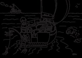 Hanse 348 dibujo para colorear para niños | Hanse