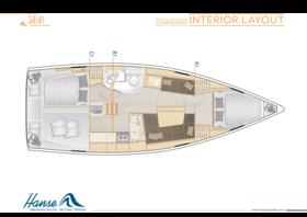Hanse 388 Interior Layout | A1 / B1 / C1 - Standard | Hanse