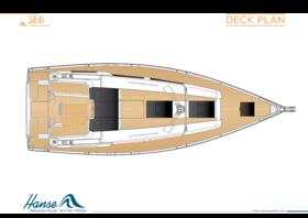 Hanse 388 Deck plan | Hanse