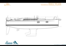 Hanse 388 Hull Plan | Technical hull plan | Hanse