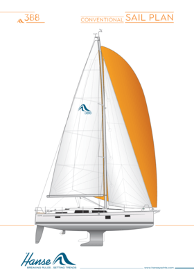 Hanse 388 sail plan | conventional sail plan | Hanse