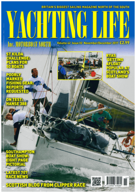 Hanse 388 Test review Yachting Life 12/2017 | Side by side sailing control on sumptuous new Hanse 388. The Hanse 388 is brand new, shown for the first time at Southampton International Boat Show and is representative of the German marque's desire for constant improvment, to keep updating their ranges and attracting new business. The 388 is the successor to the hugely succesful 385 and is based on the same Judel / Vrolijk hull, but with an entirely new deck, interior layoutm new window line, and is slightly stiffer with a heavier displacment, writes Yachting Life about test editor Andi Robertson. | Hanse