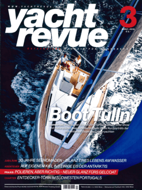 Hanse 388 Report yacht revue März 2019 (DE) | ALL-ROUND RENEWAL. The Hanse 388 was one of the last models to undergo an extensive facelift. Among other things, this makes it a yacht that can be sailed perfectly well on its own. | Hanse