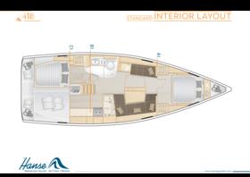 Hanse 418 Interior Layout | A1 / B1 / C1 | Hanse