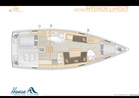 Hanse 418 Interior Layout | A2 / B1 / C1 - Option | Hanse