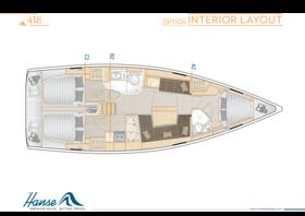 Hanse 418 Interior Layout | A2 / B2 / C2 - Option | Hanse