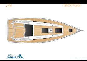 Hanse 418 Deck plan | Hanse