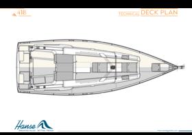 Hanse 418 Deck plan | Technical deck plan | Hanse