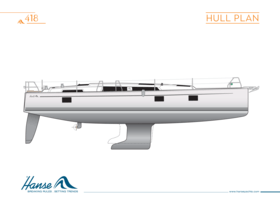 Hanse 418 Hull plan | Hull plan | Hanse
