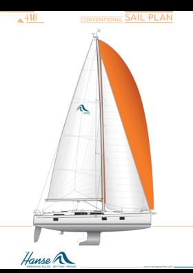Hanse 418 sail plan | conventional sail plan | Hanse