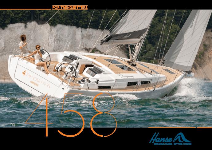 Hanse 458 Брошюра | Описание  яхты, которую вы любите. Будьте полностью  информированы при принятии вашего решения и запросите брошюру  модели,  которую вы выбрали. Или загрузите брошюру в формате PDF. | Hanse