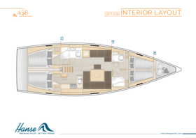 Hanse 458 Макет интерьера | A2 / B1 / C2 - Вариант | Hanse