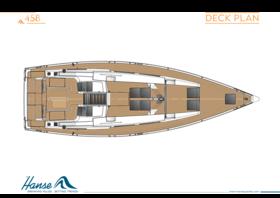 Hanse 458 План палубы | Hanse