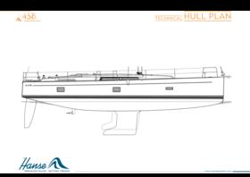 Hanse 458 план корпуса | Технический план корпуса | Hanse