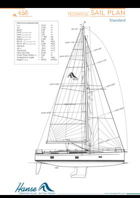 Hanse 458 план плавания | технический план плавания (стандарт) | Hanse
