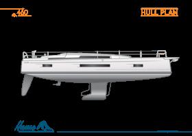 Hanse 460  技术船体图 | Hanse