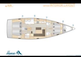 Hanse 508 İç Düzen | A1 / B2 / C1 / D2 / E2 - Seçenek | Hanse