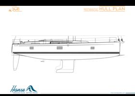 Hanse 508 Hull plan | Technical | Hanse