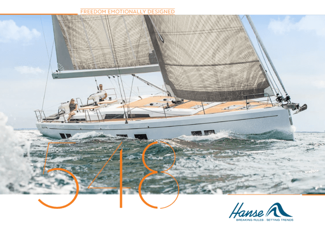 Hanse 548 Brochure | The literature for the yacht you love. Be best informed when taking your decision and request your brochure today for the yacht you have selected. Or download the brochure now as a PDF. | Hanse