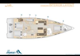 Hanse 548 Disposición interior | A1 / B1 / C1 / D1 / E2 - Estándar | Hanse