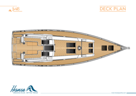 Hanse 548 Plano de cubierta | Hanse
