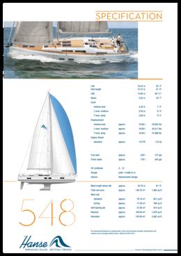 Hanse 548 Standard specification