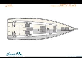 Hanse 548 Plano de la cubierta | Plano de la cubierta técnica | Hanse