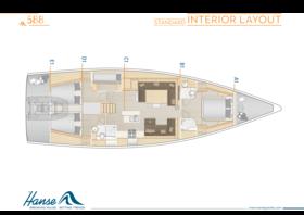 Hanse 588 Disposición interior | A1 / B1 / C1 / D1 / E1 - Estándar | Hanse