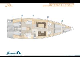 Hanse 588 Disposición interior | A2 / B2 / C2 / D2 / E1 - Opción | Hanse