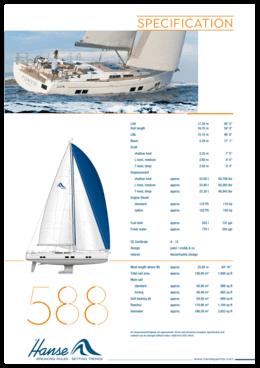 Hanse 588 Standard specification