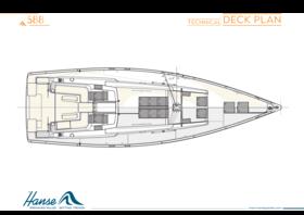 Hanse 588 Plano de la cubierta | Plano de la cubierta técnica | Hanse