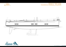 Hanse 588 plano del casco | plan técnico del casco | Hanse