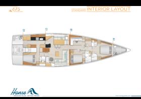 Hanse 675 Interieur Layout | A1 / B1 / C1 / D1 - Standard | Hanse