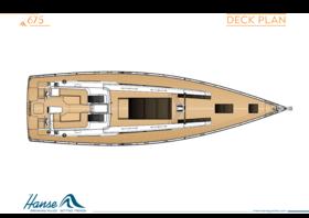 Hanse 675 Deckplan | Hanse