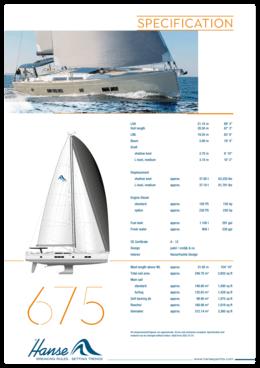 Hanse 675 Standard Specification