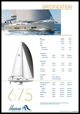 Hanse 675 Standard Specification | Hanse