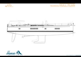 Hanse 675 Rumpfplan | technischer Rumpfplan | Hanse